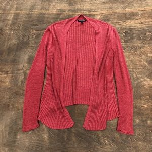 Eileen Fisher linen cardigan open front Rose rust